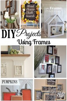 How to and DIY projects using frames. Most from the thrift store. Country Design Style