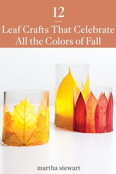 We're taking our inspiration from Mother Nature this fall for easy at-home craft ideas. From elegant wreaths to kid-friendly crafts, here are some of our favorite fall DIY projects that use these beautiful seasonal tones. #marthastewart #crafts #diyideas #easycrafts #tutorials #hobby Spooky Halloween Decorations, Halloween Labels, Halloween Crafts For Kids, Fall Crafts, Christmas Crafts, Diy Crafts, Halloween Halloween, Vintage Halloween, Halloween Pumpkins