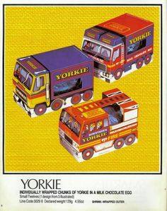 Rowntrees Yorkie easter eggs circa 1984