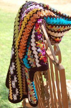 Rick-Rack Crocheted Blanket by OneCreativeFamily on Etsy