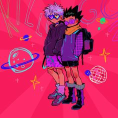 Killua, Hunter Anime, Hunter X Hunter, Aesthetic Art, Aesthetic Anime, Vaporwave, Goth Art, Anime Artwork, My Hero Academia Manga