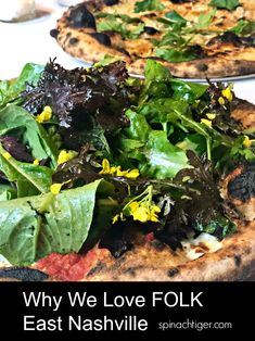 Great pizza at Folk on sour dough. We've been seven times in past year. Best Pizza In Nashville, Nashville Restaurants, Wood Burning Oven, Great Pizza, Seaweed Salad, Spinach, Folk, Sweet Home, Technology