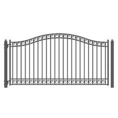 Aleko Single-Swing Steel Driveway Gate, Dublin, 14' x 6-1/4', Black