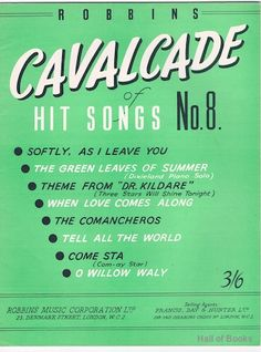 Robbins Cavalcade Of Hit Songs No 8, Various