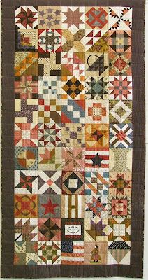 Sandy's  Civil War quilt made in the size requested by the Sanitation Company to fit the military cots.