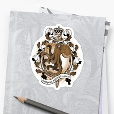 SEE MORE OF MY WORK AND SPECIAL EDITION PRINTS ON MY WEBSITE / heatherhitchman.com / A fun and imaginative coat of arms design, featuring a rampant Octopus! / I kept the design black and white with a transparent background, match your heraldic animal with your heraldic or favorite color for custom attire that' symbolizes you! / This is part of a series of animal heraldry I am creating, follow my shop to see when your favorite animal is added to the line! • Also b...