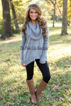 Light Grey Cowl Neck Sweater | Winter 2015 | Pinterest | Cowl neck ...