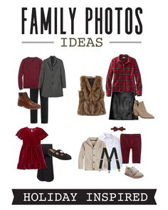 Coordinating Family Photo Outfit Ideas — Mirror and Thread Family Christmas Picture Outfit Ideas Matching Family Photo (men's, women's, children's) Christmas Outfits 2019 Fall Family Picture Outfits, Christmas Pictures Outfits, Family Portrait Outfits, Family Photos What To Wear, Winter Family Photos, Family Christmas Pictures, Family Outfits, Family Pictures, Matching Family Christmas Outfits