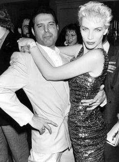 Freddie Mercury and Annie Lennox 1988