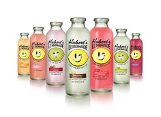 Hubert's Lemonade #packaging  I love how simple and clean the design is, as well as how the clear bottle allows the product to speak for itself.