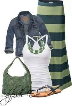 Cute summer outfit.I'm more of a short skirt wearing type but this is still cute.