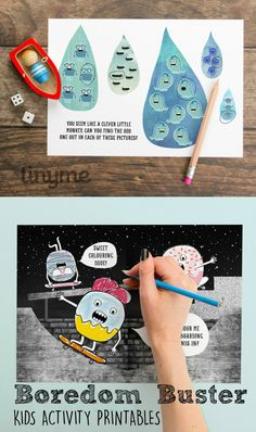 boredom buster printable activity sheets for kids. Good for screen free week or keeping kids entertained while waiting