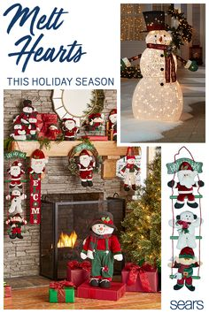 """Discover everything you need to decorate your home, inside and out. Find holiday décor in all shapes and sizes from a 48"""" light up snowman for your lawn to an adorable 25"""" greeter with rosy cheeks and green velvet overalls. Whatever your theme, whatever your decorating style, you'll find everything you need at sears.com."""