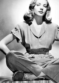Lauren Bacall's 1940's Style.