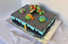 Ninja Turtles sheet birthday cake