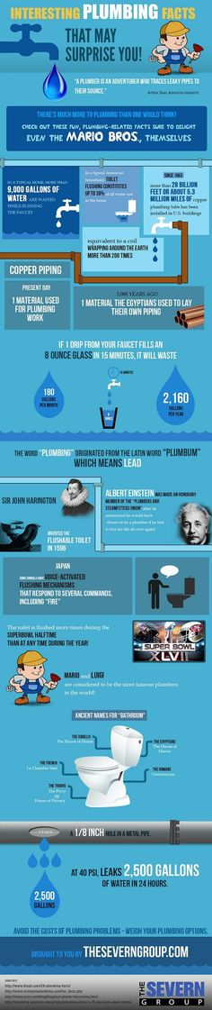 Interesting plumbing facts | #Infographics repinned by @Piktochart