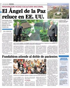 Guatemala's Angel of Peace by Pepo Toledo in Washington. #PepoToledoArt
