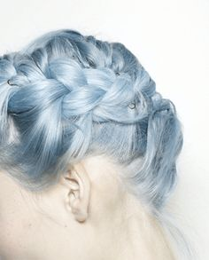 Pastel blue #hair #bright #dyed #coloured