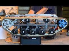RC tank track test run. - YouTube