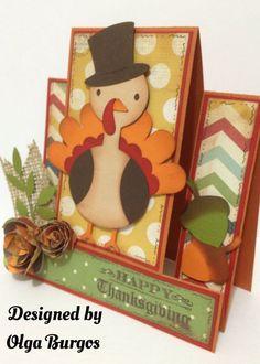 cricut thanksgiving cards | Thanksgiving card! I use a cricut cartdrige Create a Critter