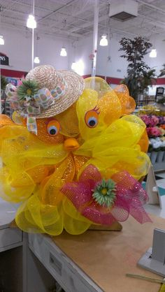 Easter chick with her Easter bonnet...This is soooo adorable