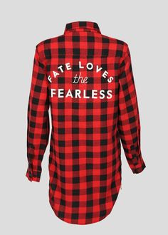 Fearless Red-Checkered Flannel Shirt