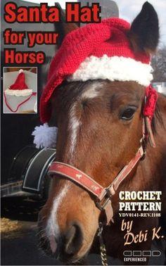 Santa Horse Hat Crochet Pattern pdf