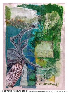 "Piece by Justine Sutcliffe, Oxford branch of Embroiderers' Guild. Part of ""Celebrating 300 years of Capability Brown"" exhibition at Blenheim Palace 13 April - 2 May 2016."
