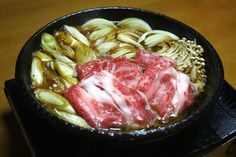 器秀山陶房造「牛鍋(すき焼き)用 黒釉土鍋」