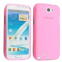Pink Dull Polish Soft Case Cover for Samsung Galaxy Note 2 II N7100