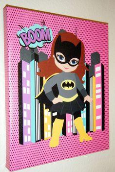 8x10 Batgirl/ Superhero Pop Inspired by SweetCarolinesStudio