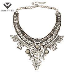 Indian Necklace: Rhinestones