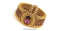 La Manchette de Versailles by Manek-Manek Beads - Jewelry | Kits | Beads | Patterns