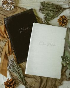 A vow book is the perfect holiday gift for the soon to be newlyweds! Which is your favorite, the black velvet or the white velvet vow book? Vow Book, White Velvet, Santa Barbara, Newlyweds, Vows, Holiday Gifts, Stationery, City, Wedding
