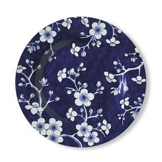 French Blue Bouquet Salad Plates Set of Blossom  sc 1 st  Pinterest : dinner plate in french - pezcame.com
