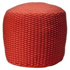Privet House at Target® Coral Rope Pouf - Small  $79.99.