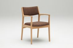 K60 Dining chair_Wool nepps brown