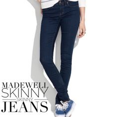 "|| Madewell || Skinny Skinny Jeans Brand New, with tags. Never worn!  Madewell Skinny Skinny  Size: 27  98% Cotton 2% Spandex  Measurements provided below, while pants lying flat and unstretched. Please compare for accurate fit.  Waist- 15"" (30"" Around) Hips- 17.5"" Rise- 8.5"" Inseam- 34"" Leg Opening- 5.5"" Madewell Jeans Skinny"