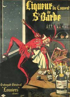 Réclame d'autrefois (1910) : Liqueur du Couvent de Sainte-Barbe