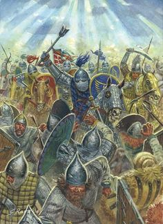 Byzantine Kataphraktoi in battle.