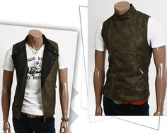 Skinnvest Herre (Khaki) - Rockdenim - $599nok Vests, Jackets, Fashion, Down Jackets, Moda, Fashion Styles, Jacket, Fashion Illustrations, Suit Jackets