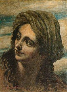 Eastern woman's head,   Giorgio de Chirico