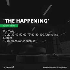 For Time: Alternating Lunges; 10 Burpees (after each set) Crossfit Workouts At Home, Wod Workout, Calisthenics Workout, Workout Ideas, Boxing Workout, Beach Workouts, Street Workout, Workout Routines, Workout Plans