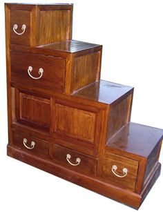 Buy Double Sided, Japanese Modular Step cabinets online and save over retail stores. You can trust our 30 years of experience as direct importers. Japanese Furniture, Unique Furniture, Furniture Decor, Furniture Design, Cabinet Styles, Oriental, Decorative Boxes, Asian
