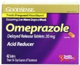 GoodSense Omeprazole Delayed Release Acid Reducer Tablets 20 mg, 42 Count Treats the same symptoms as Prilosec OTC Acid Reducer Treats frequent heartburn, occurring 2 or more days a Week Three courses of treatment May take 1 to 4 days for full effect Pulmonary Fibrosis, Diet Books, Homeopathic Remedies, Heartburn, Sports Nutrition, Diet Pills, Counting, Health And Beauty, Health Care