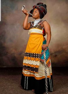 Shweshwe Dresses, African Maxi Dresses, Latest African Fashion Dresses, African Print Fashion, Africa Fashion, African Prints, Xhosa Attire, African Attire, South African Traditional Dresses