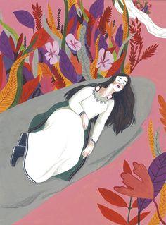 "Illustrator Iratxe Lopez de Munain / Illustrations for ""Sigfrido e i Nibelunghi"" Published by La Nuova Frontiera, Italy,"