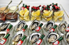 Oyster bar, seafood canapes, catering by Bay Leaf Catering
