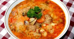 Hungarian Cuisine, Hungarian Recipes, Hungarian Food, My Recipes, Cooking Recipes, Kinds Of Soup, Dukan Diet, Tasty, Yummy Food