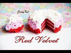 """CrazyKet: Master Class Cake """"Red Velvet"""" / Red Velvet Cake / Polymer Clay / Polymer Clay - YouTube"""